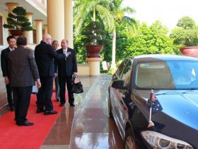 Australian Consul Binh Phuoc Arrival