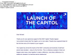 RMIT Capitol Theater